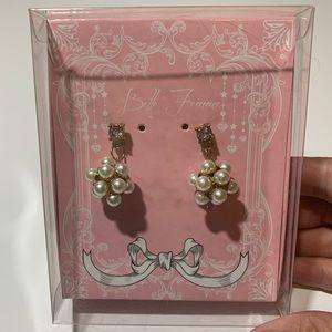 4/$15 Sphere Round Pearl Earrings